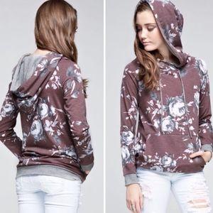 Trendy floral fall hoodie